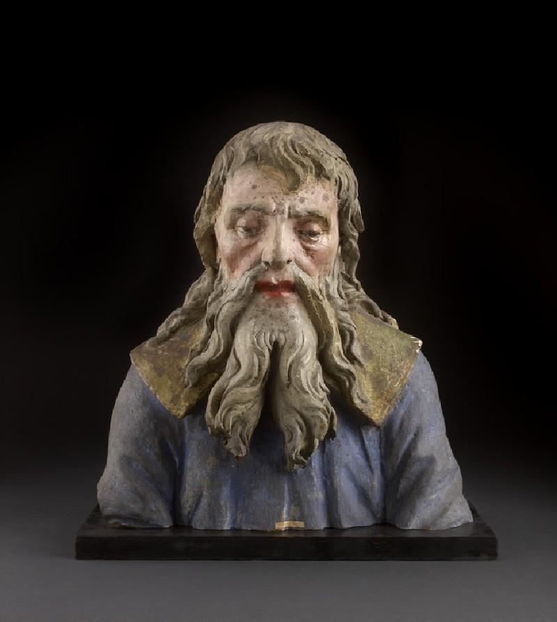 Bust of an old man, fragment from an Adoration of the Magi (WA1888.CDEF.S15)