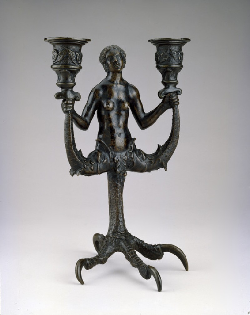 Double candlestick with siren (WA1888.CDEF.B1025)
