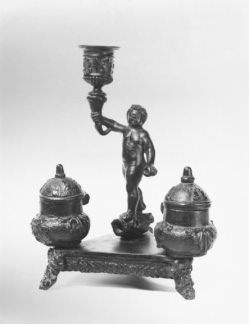 Inkstand with figure of a putto (WA1888.CDEF.B1094)