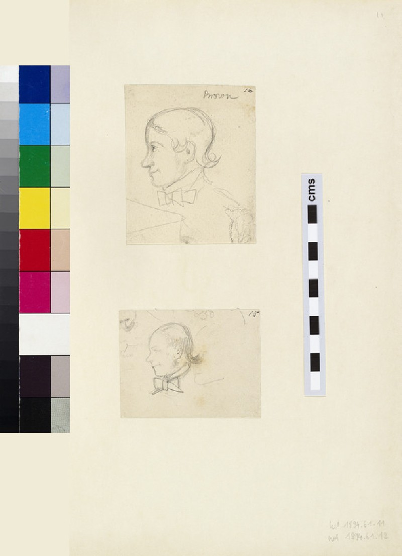 Profile Sketch of Thomas Combe's Servant, Brown