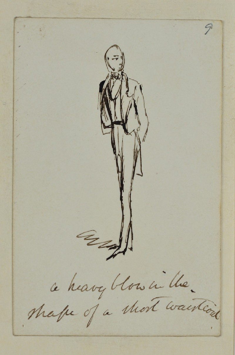 Sketch of a Man wearing a Jacket and Waistcoat