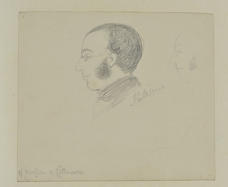 Sketch of a Man in Profile