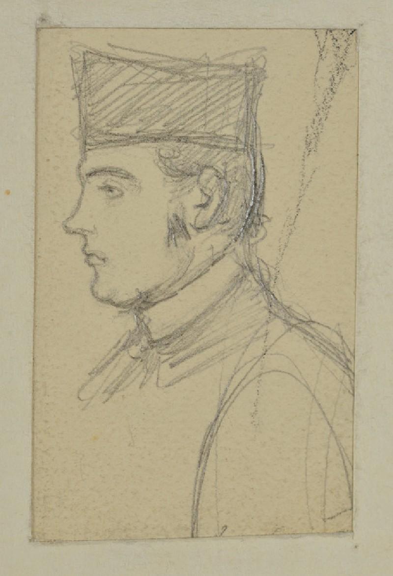 Profile Sketch of the Revd John Hungerford Pollen (WA1894.61.15)