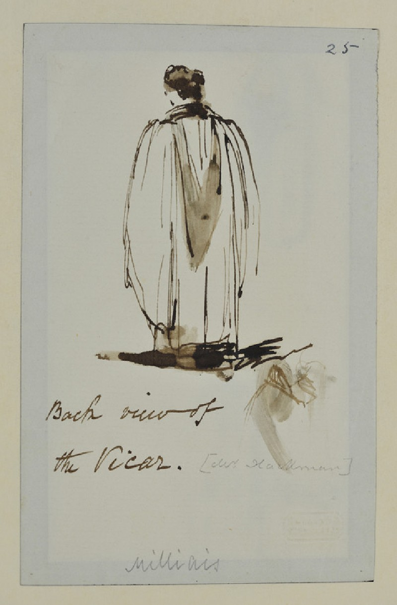 Back View of a Vicar