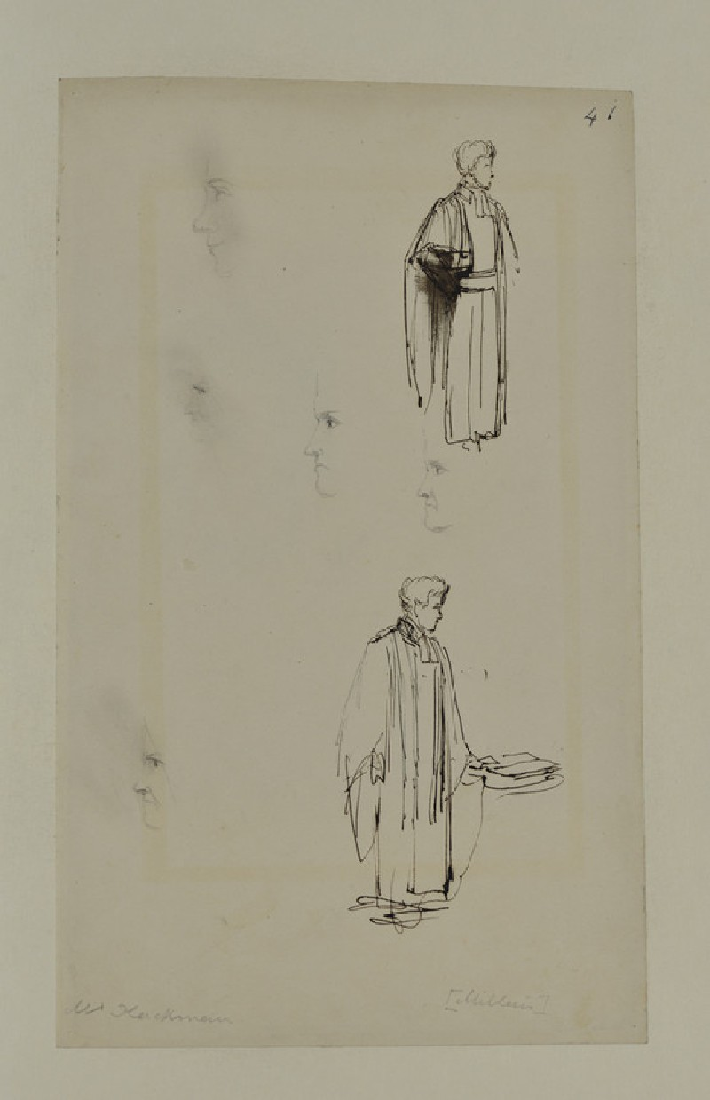 Two Sketches of Mr Hackman (WA1894.61.17)