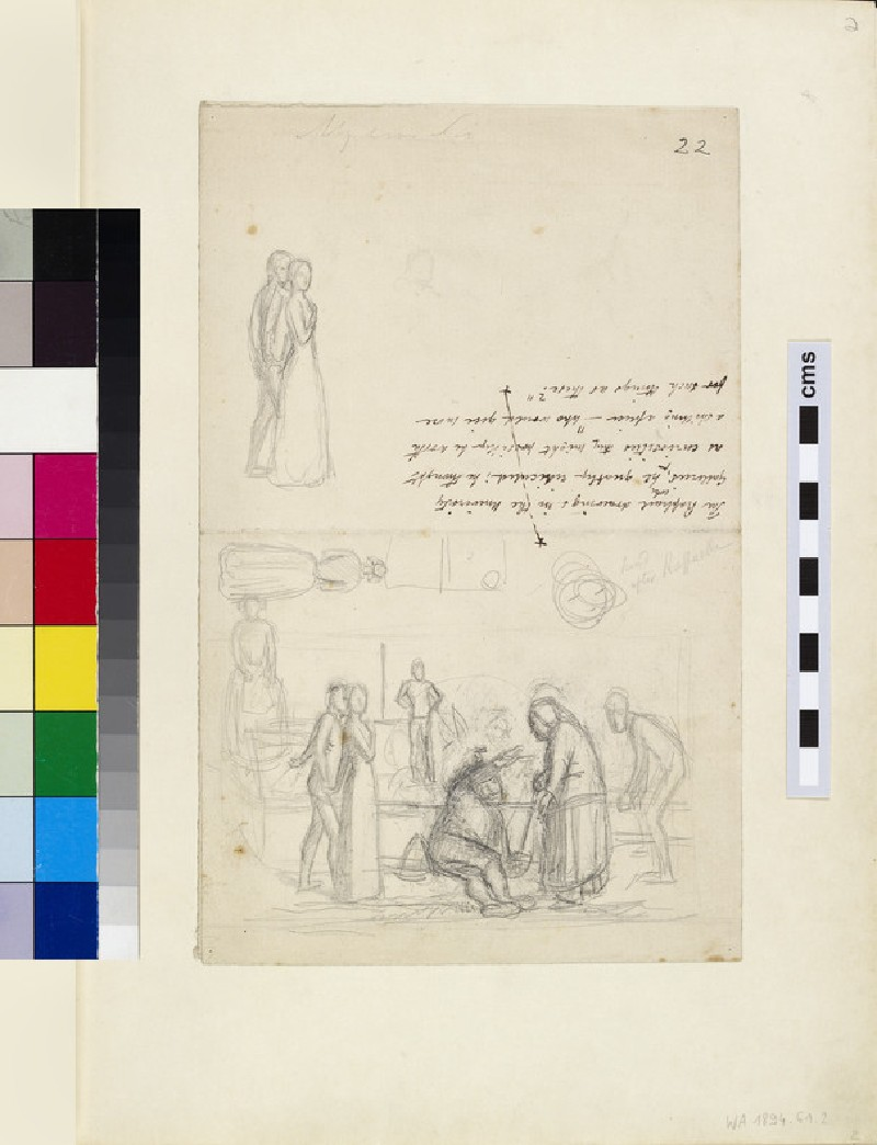 Sheet of Figure Sketches (WA1894.61.2)
