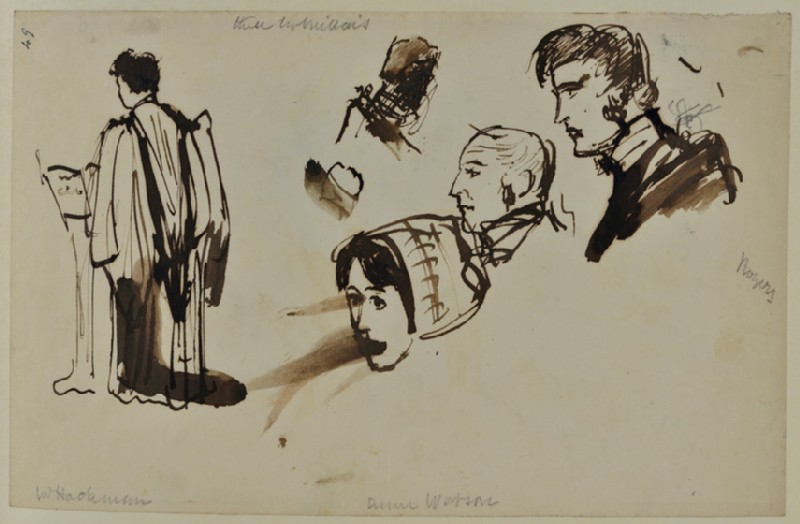 Sketches of a Vicar and Heads
