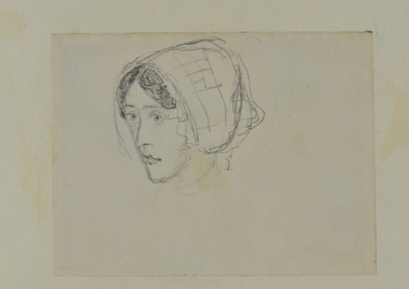 Sketch of a Woman's Head (WA1894.61.21)