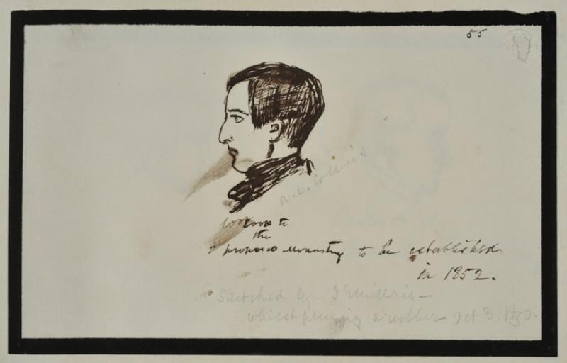 Portrait of Charles Allston Collins