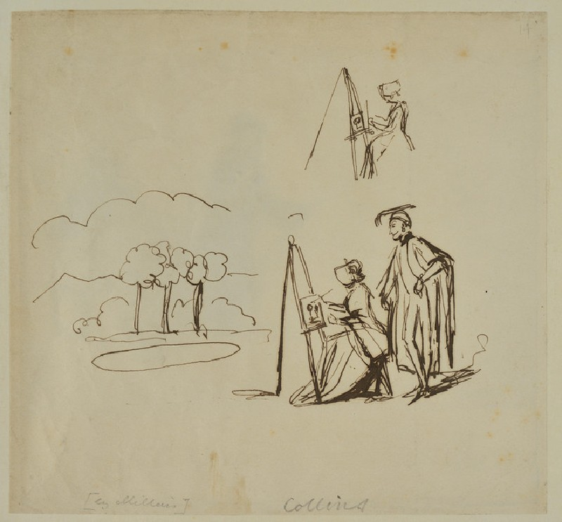Scene with Woman painting and an Academic