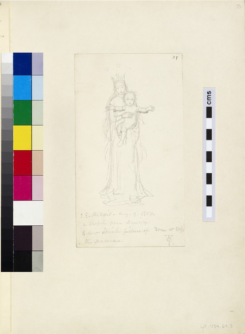 Sketch of the Virgin Mary and the Infant Christ (WA1894.61.3)