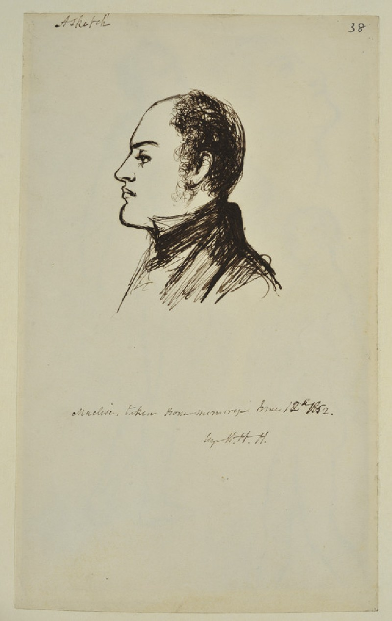 Maclise, taken from Memory (WA1894.61.38)