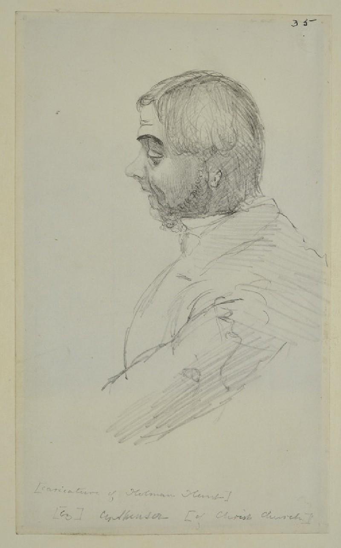 Caricature of Holman Hunt (WA1894.61.44)