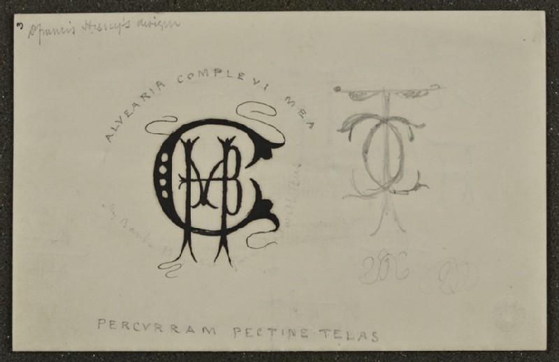 Sheet of monograms (WA1894.61.49)