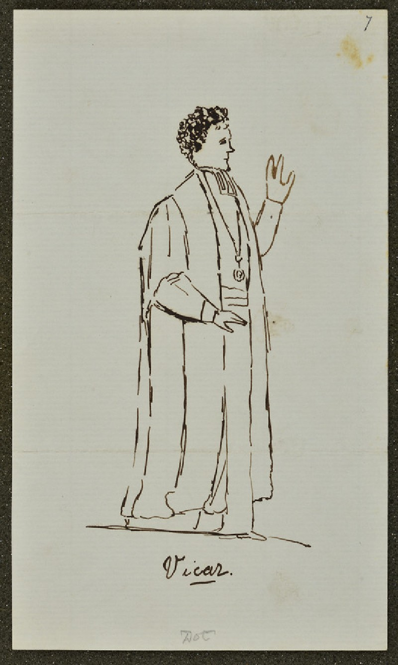 Sketch of the Rev. Alfred Hackman, Vicar of St Paul's, Oxford