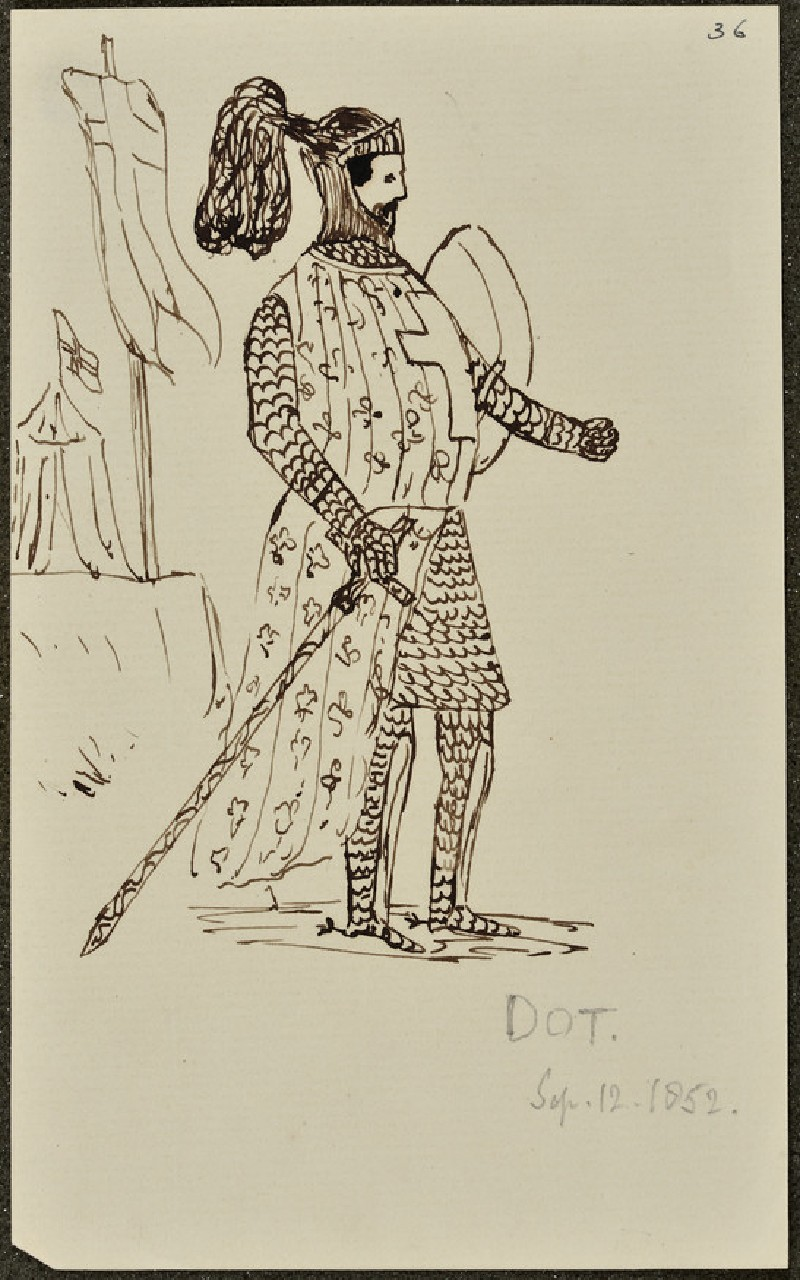 Sketch of a Knight (WA1894.61.57)
