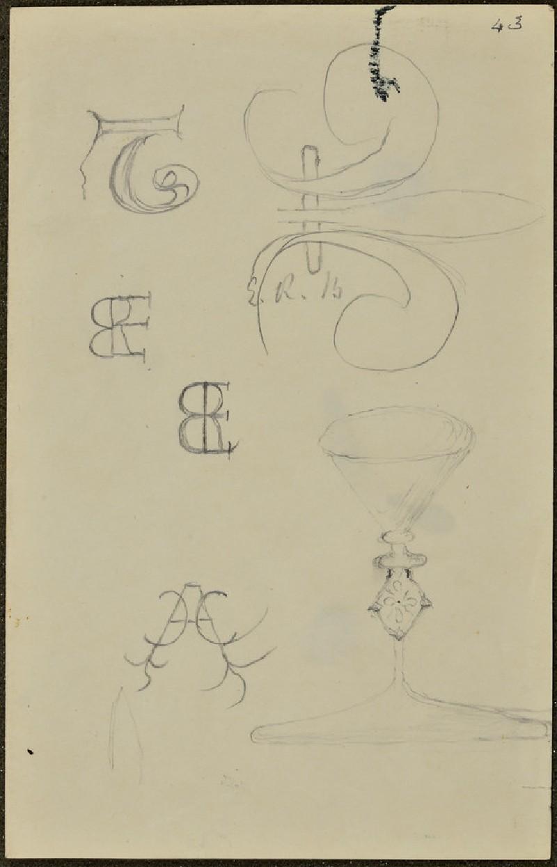 Sheet of monograms and wax seals