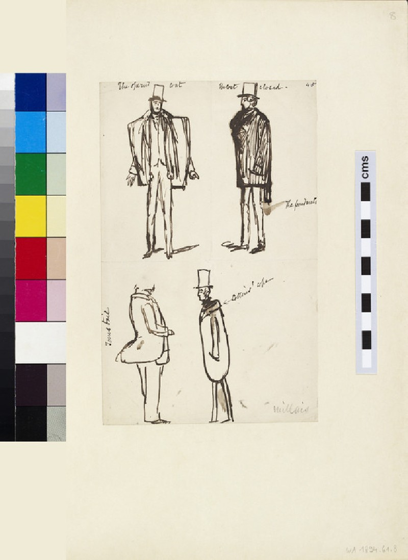 Four Sketches of a Man wearing a Coat