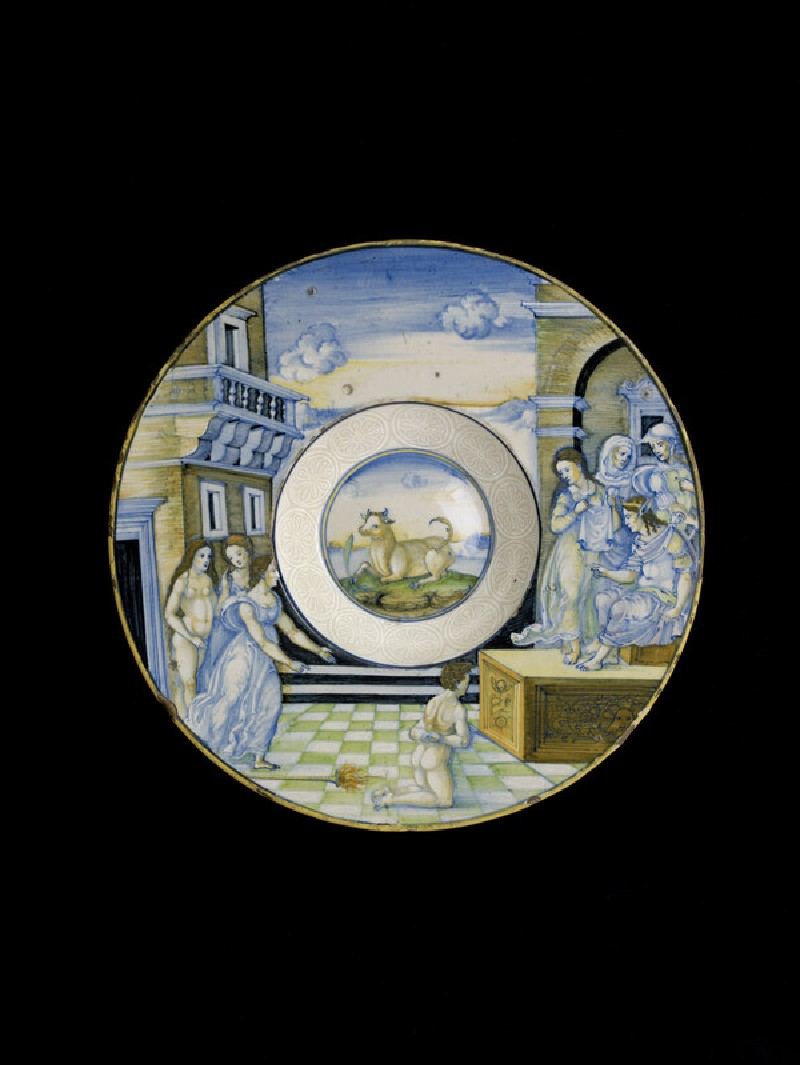 Plate with the Calumny of Apelles