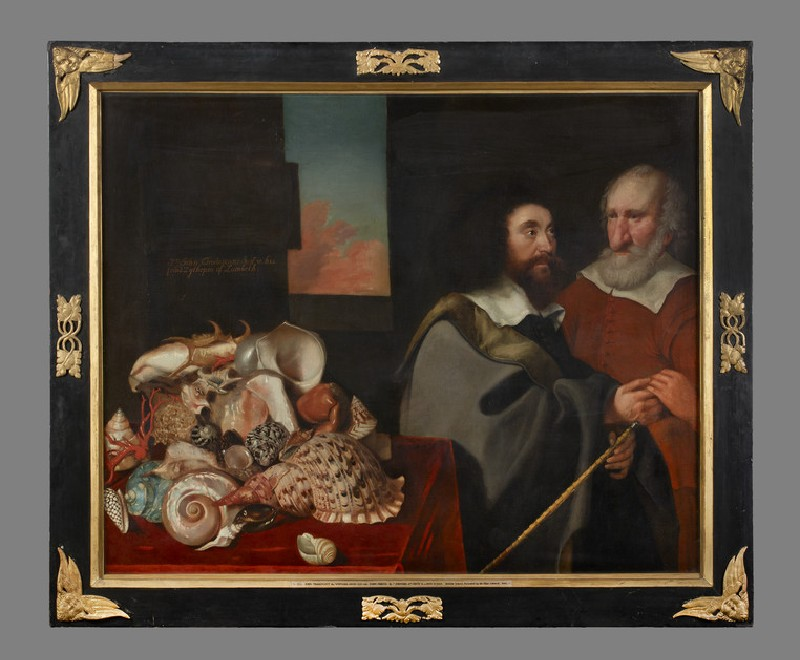 John Tradescant the Younger with Roger Friend and a Collection of Exotic Shells