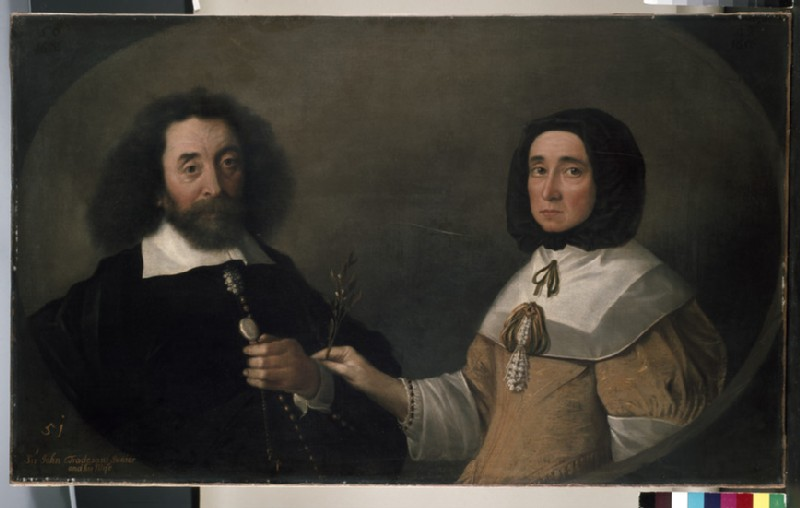 John Tradescant the Younger and Hester, his second Wife (WA1898.12)