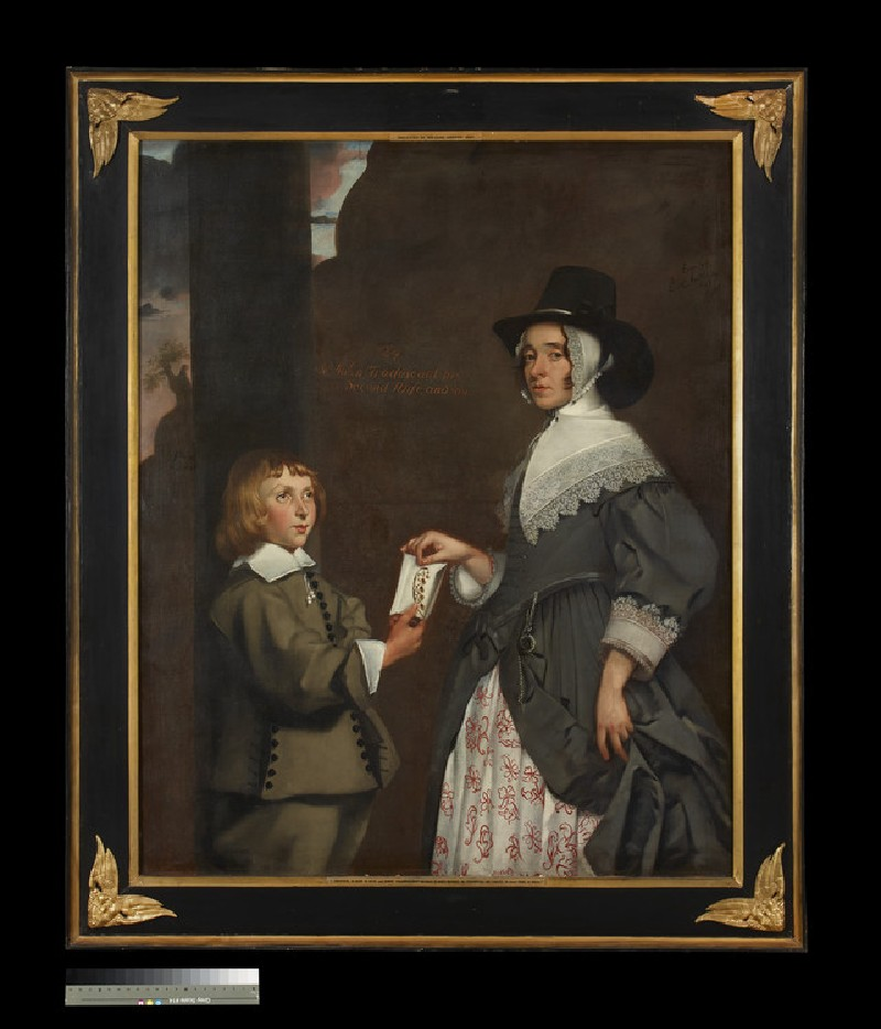 Hester Tradescant and her stepson, John
