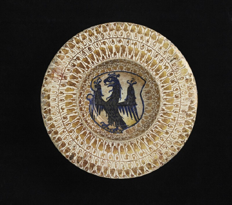 Broad-reimmed bowl with a heraldic eagle (WA1888.CDEF.C333)