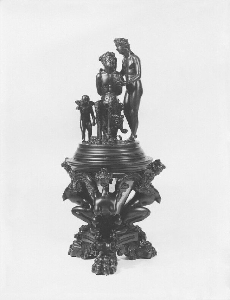 Inkstand with a nymph, satyr and Cupid (The Chastisement of Pan)