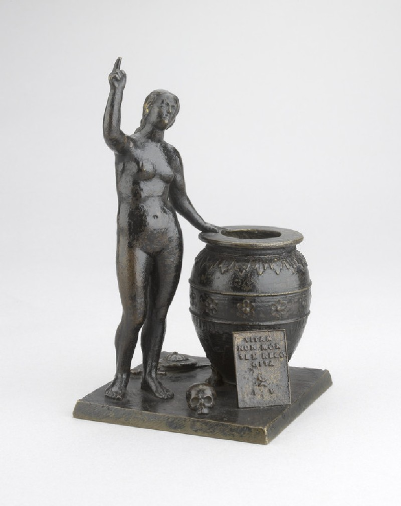Inkstand with an allegorical figure (WA1899.CDEF.B1086)