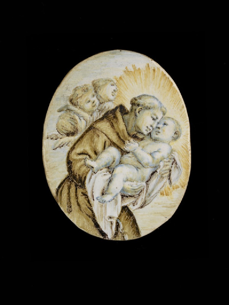 Plaque, St Anthony of Padua and the Christ Child (WA1908.259)