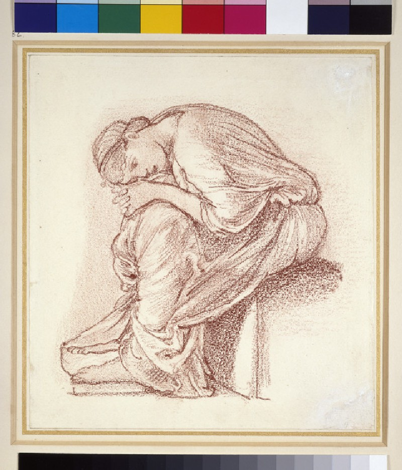 Seated figure of a woman: possibly a study for 'The Lament'