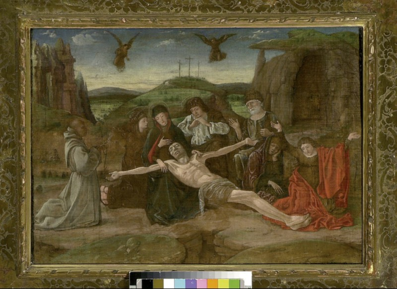 The Lamentation with a Benedictine Donor (WA1915.11)