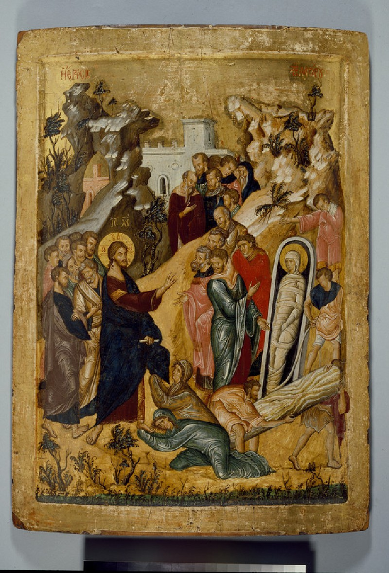 Icon of The Raising of Lazarus (WA1915.13)