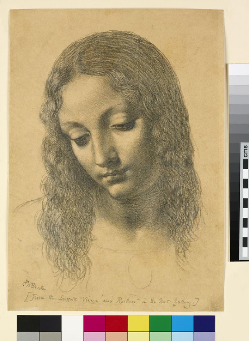 Copy of the Head of the Virgin from Leonardo's 'Virgin of the Rocks'