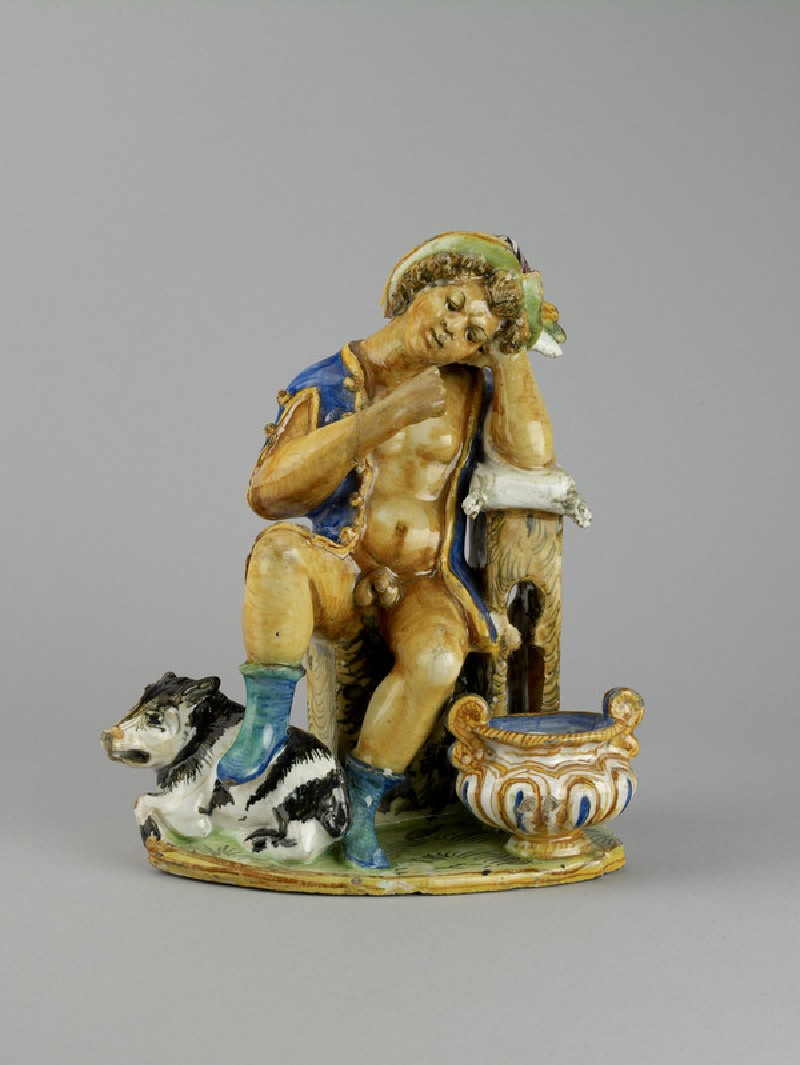 Inkstand modelled as the Prodigal Son