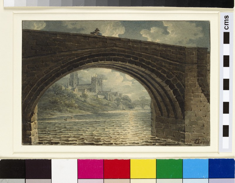 Durham Cathedral seen through an Arch of Ralph Flambard's Bridge (WA1916.11)