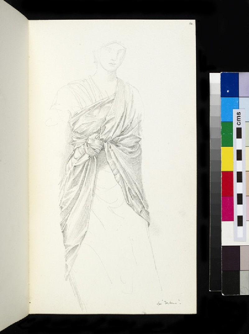 Study for the figure of Fortune in 'The Wheel of Fortune'