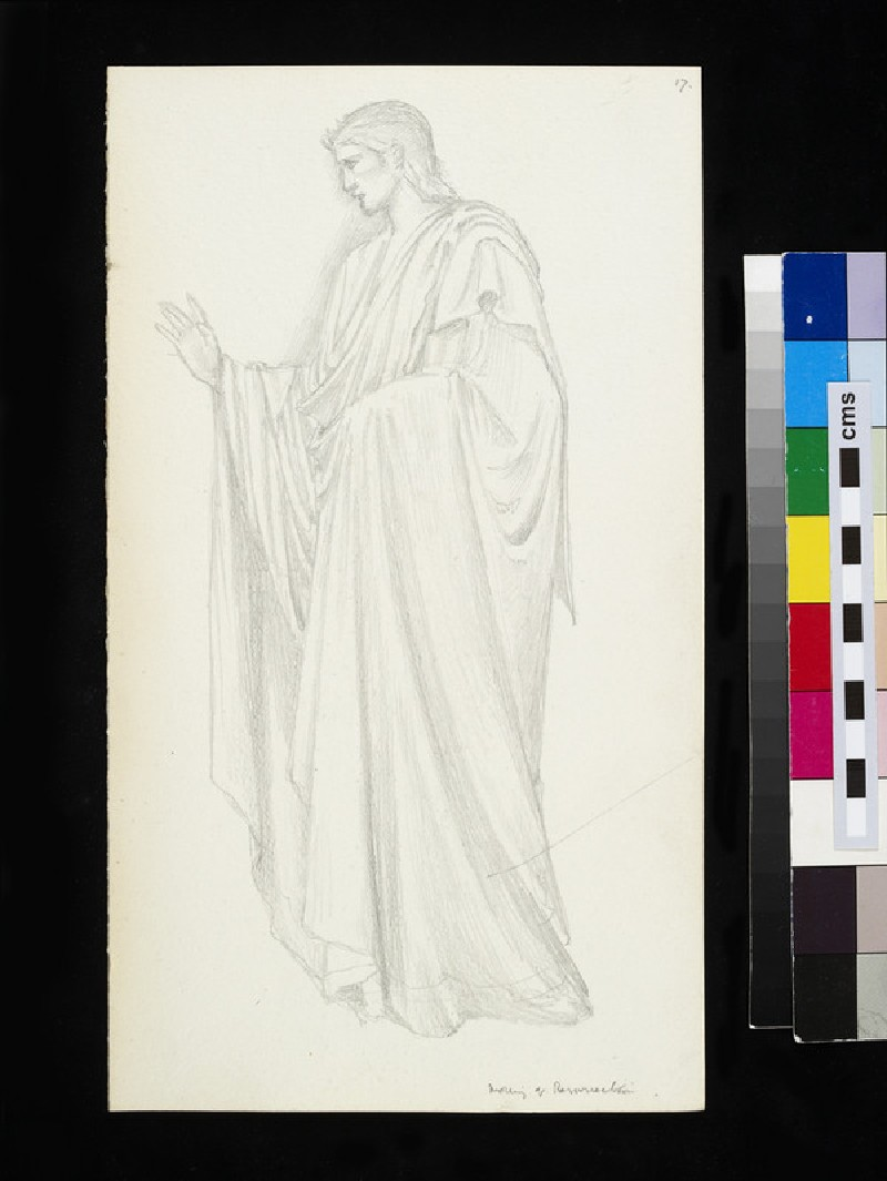 Recto: study for the figure of Christ in 'The Morning of the Resurrection' 