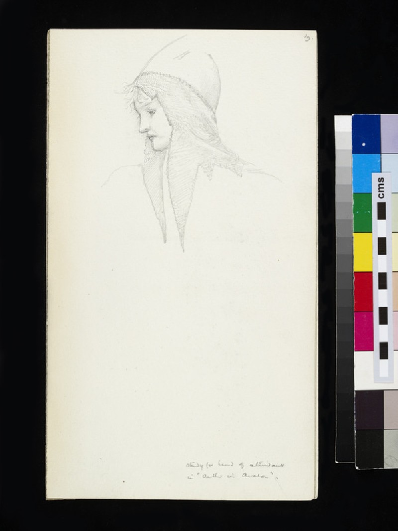 Study for head of attendant in 'The Sleep of Arthur in Avalon'