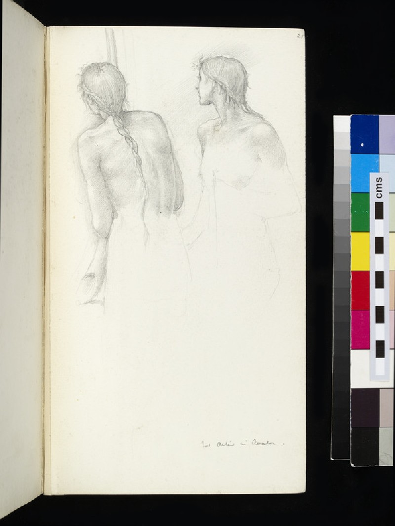 Study for two figures in 'The Sleep of Arthur in Avalon' (WA1920.55.21)