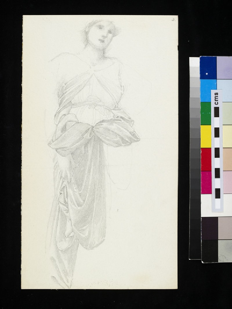 Study for the figure of Fortune in 'The Wheel of Fortune' (WA1920.55.3)