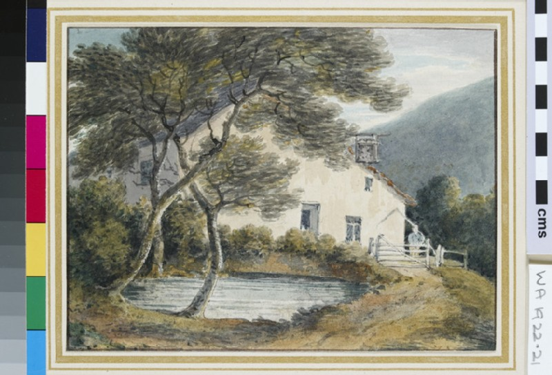 A Country Inn near a Pond