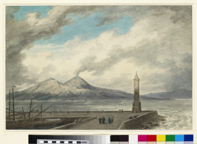 Vesuvius and Somma from the Mole at Naples (WA1924.2)