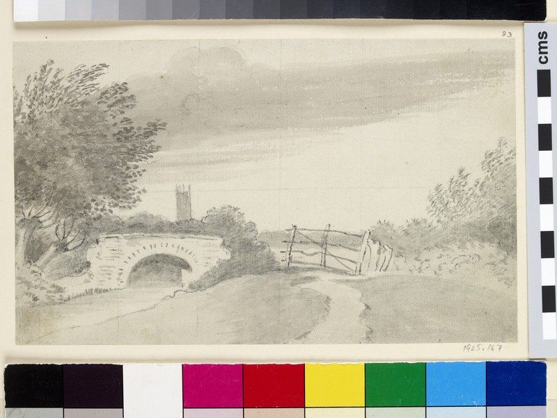 Distant view of Magdalen Tower (WA1925.167)