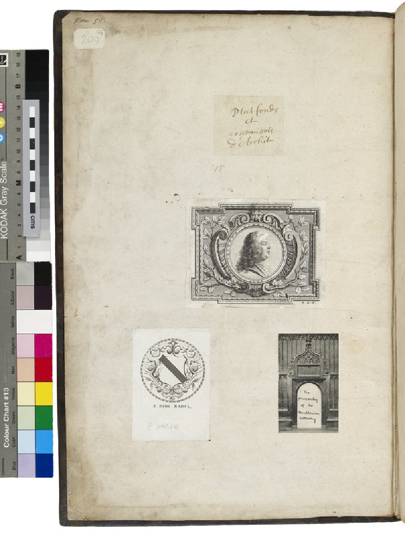 Cotelle Album of architectural ornament and ceiling designs