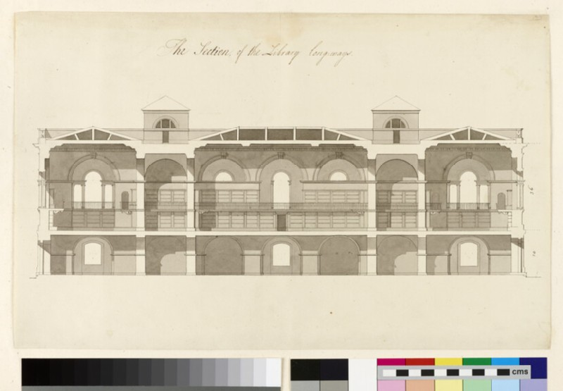 Design for a section of the Radcliffe Library