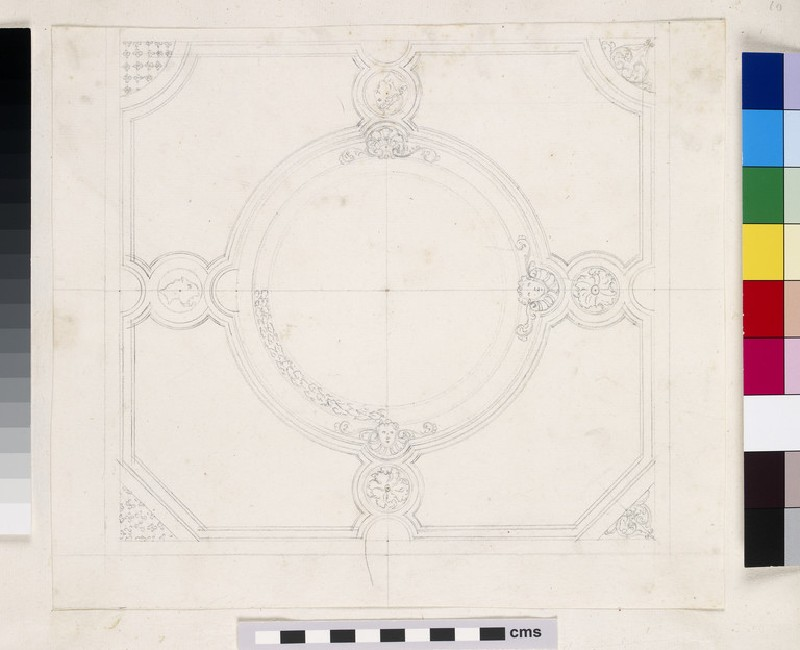Design of the section for a church with a circular East end, for the 'Church in great George Street'