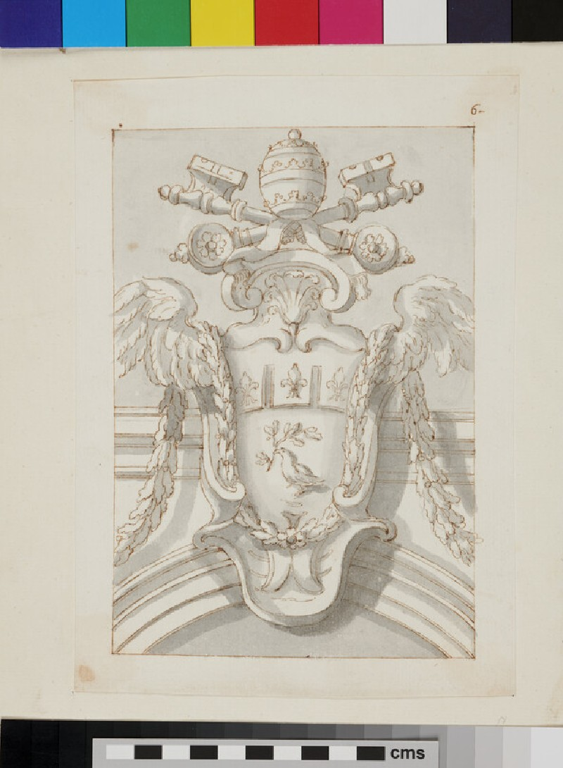Design of the arms of Innocent X (Giovanni Battista Pamphilj)