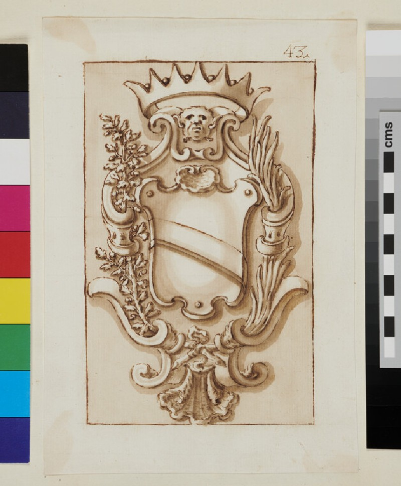 Design of the arms of the Condolmieri family (verso)