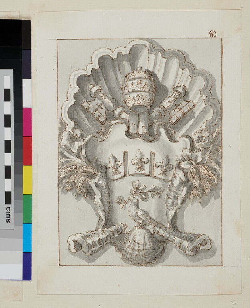 Design of the arms of Pope Innocent X, Giovanni Battista Pamphilj